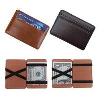 Magic Portafoglio Gestione dei clip per gli uomini Slim Pelle PU BUSINESS BUSINESS Titolare della carta di credito Moda maschile Sottile denaro contanti
