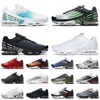 nike air max airmax tuned 3 plus tn 2 2021 أحدث جودة مضبوطة 3 Plus III Tn 2 Hasta حذاء الجري ثلاثي أسود بالكامل أبيض أكوا فولت سبج أحذية رياضية 36-46