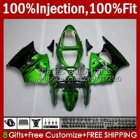 OEM Body Injection Mold voor Kawasaki Ninja Groene Flames ZZR600 05-08 ZZR600 05-08 ZZR600 05-08 ZZR600 600 CC 05 06 07 08 Cowling 38HC.66 stock ZZR 600 600CC 2005 2006 2007 2008 100% Fit Fairing Kit
