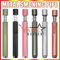 Metallraucher pipe e zigarette stift 78mm filter tips ein hitterfeder fledermonbatte snuff snorter spender rohre stroh sniffer tabak rauchrohre