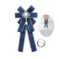 5 цветов лук брошь модная жемчужная лента ткань брош романтические ювелирные изделия свадьба аксессуары броши для женщин девушка подарок