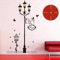 Wall Stickers Ancient Lamp Bird Living Room Bedroom Sofa Background Decoration Mural Art Decals Home Decor Wallpaper