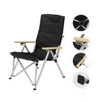 Camp Furniture Portable Folding Chair Adjustable Backrest Outdoor Aluminum Alloy Recliner Garden Picnic BBQ Camping Fishing Beach