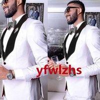 Handsome Groomsmen One Button Groom Tuxedos Shawl Lapel Men Suits Wedding Prom Dinner Man Blazer (Jacket+Pants+Tie+Vest) w537