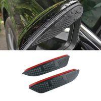 For Volkswagen Touareg 2003-2021 Car Stickers Side Rear View Mirror Rain Visor Carbon Fiber Texture Eyebrow Sunshade Guard Cover Shield