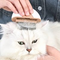 Pet brush, half handle, grooming massage tool, general needle comb pet supplies for cats and dogs