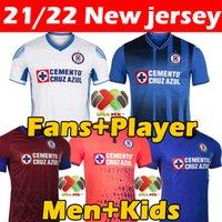 21/22 Liga MX Cruz Azul Campeonas Campeonas Jersey Fans Versão Jogador Versão Especial Comemorativa Edição Futbol Clube Camiseta de Fútbol 2021 2022 Men Kids Football Shirt
