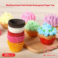 Gift Wrap 1000Pcs Mini Size Chocalate Paper Liners Baking Muffin Cake Cups Forms Cupcake Cases Solid Color Party Tray Mold