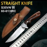 New Straight Knife M390 Steel Samurai Self-Defense Outdoor Camping Hunting Tactical Survival Edc High Hardness Practical Tool