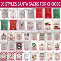 DHL عيد الميلاد سانتا أكياس قماش أكياس القطن كبير العضوية الثقيلة الرباط الأكياس شخصية مهرجان حزب عيد الميلاد الديكور gyq