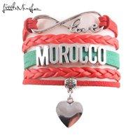 Charm Bracelets Little MingLou Infinity Love Country Morocco Bracelet Heart Leather Wrap Men & Bangles For Women Jewelry