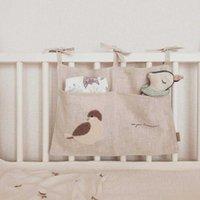 Bedding Sets Baby Bedside Storage Bag Crib Organizer Hanging For Essentials Multi-Purpose Bed Diaper Toy Tissue Born