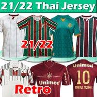 2021 2022 Fluminense Soccer Jersey Retro Brasileiro M.Paulo Ph Ganso Futebol Jersey Nene Nino Miguel Calegari Camisa 1989 1990 Homens Mulheres Kit Kit Football Shirts