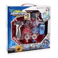 Box Original Beyblades Burst BB9 para Venda Metal Fusion 4D com lançador e arena girando top set kid jogo brinquedos 210806