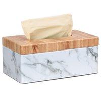 صناديق الأنسجة المناديل مستطيلة الرخام بو الوجه الحبوب مربع غطاء منديل حامل ورقة منشفة موزع حاوية للمنزل مكتب ديكور