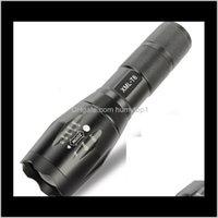 Черный CREE XML T6 3800lumens Высокая мощность Масштабируемая тактическая горелка для 3XAAA или 1x батареи GZDI4 A15JM