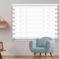 Professional custom horizontal curtains with drapery cover zebra double roller blinds day and night Curtain