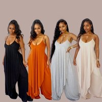 Solid Casualwear Loose Two Piece Pants Tracksuit Women Sexy Spaghetti Strap Side High Split Long Tops+wide Leg Trouser Co Ord Outfit