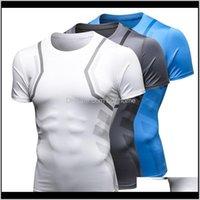 Jogging Vêtements Exercice Porter des vêtements de plein air Athletic Sports à l'extérieur Livraison 2021 Men \ s Été Mode Casual Fitness Manches courtes
