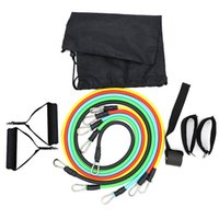 Resistance Bands 11pcs set TPE Pull Rope Fitness Rally Latex Tube Stretch Expander Equipment