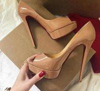 Designer High Heels Women Shoes Extreme 16cm Blue Red Brown Platform Platformy Stiletto Buty Ślubne Duży Rozmiar Peep Toe Pompy