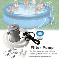 110V 220V Swimming Pool Filter Pump Beach Electric Water Pumps for Above Ground Pools, 300 Gallon Cartridge Pools Clean System Kit Cleaning Tool