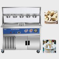 Helado Making Machine Comercial Uso Rolls Tailandia Fry Flat Pan Frito
