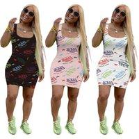 Großhandel Womens Kleider Sexy dünne Tank Top Kleid einteilig Set BodyCon ENENING Luxus Pullover Hohe Qualität Cubwear KLW6172