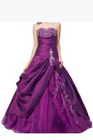 New Cheap Stock Purple Quinceanera Dresses For 15 Party Sweet 16 Formal Long Prom Party Gowns Stock Size 2-16 QC212