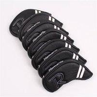 Golf Irons Cover Clubs PU Leather Romaro Encabezado en la cabeza Accesorio Club Cabezas