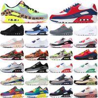 air max 90 airmax 90s running shoes 90 أحذية الجري des chaussures 90s رجل إمرأة منصة أحذية رياضية الرجال في الهواء الطلق الرياضة المدربين