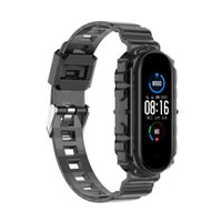 Transparent Glacier Series Integrated Wristbands Straps For XiaoMi Mi Band 3 4 5 6 Watch Wearable Bands Color TPU Bracelet Replacement Strap