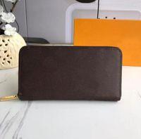 Оптовая продажа 2021 роскошный дизайнер высокого качества длинные кошельки классические мужские и женские модные сцепления натуральный кожаный кошелек с пылезащитными сумками