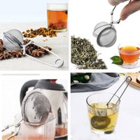 Tea Infuser 304 Stainless Steel Sphere Mesh Tea Strainer Coffee Herb Spice Filter Diffuser Handle Tea Ball Top Quality HHA7433