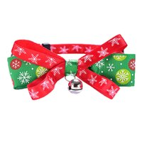 Bowknot Bell Christmas Series Pets Collars Cat Collar Dog Pet Products plus sizeDH8576