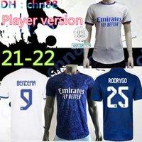 2021 2022 Versão do Jogador Real Madrid Soccer Jersey 21 22 Sérgio Ramos Benzema Vinicius Alaba Vini Jr. Kroos Asensio Modric Marcelo Camiseta Camisa de futebol