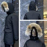 En Kaliteli Kadın Kış Parkas Hood Ile / Snowdome Ceket Gerçek Kurt Kürk Yaka Beyaz Ördek / Kaz Ceket Fabrika Temizle Sıcak Sonbahar Moda Bayanlar Rüzgarlık