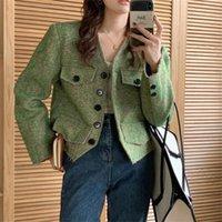 Women's Jackets Alien Kitty Green Slim Femme Coats Vintage Plus Size Fashion 2021 Gentle All Match Women Office Lady Elegant OL