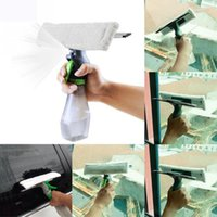 In 1 Window Cleaner Spray Dry Scraper Atomizing Nozzle Car Glass Clean Brush D7YA Washer