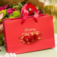 Gift Wrap 10pcs Wedding Supplies Handbags Back Box Bag Flowers Paper Bags With Handles Candy Package