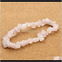Beaded, Strands Jewelrygravel Natural Stone Bracelets For Women Labradorite Beads Bangles Created Rose Quartzs Pseiras Femininas F2871B Drop
