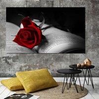 FOOD ART PICTOS RED ROSA PINTURA PINTURAS MODERNO Posters e impresiones para la decoración de la sala de estar sin marco