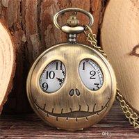 Steampunk oco fora caso sapo relógio de bolso quartzo retro prata / bronze pingente watces colar cadeia relógio presentes para crianças