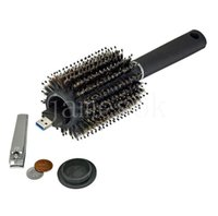 Storage Boxes Secret Hair Brush Black Stash Safe Diversion Secrets Security Hairbrush Hidden Valuables Hollow Container Roller comb DD126
