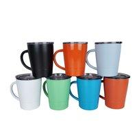Kinder Sippy Tumblers Cups Becher mit Griff Doppelwand isoliert Edelstahl-Kleinkind-Tasse Mini-Tumbler-Verschüttungs-Deckel-Deckel leicht zum Reinigen der Spülmaschine Safe
