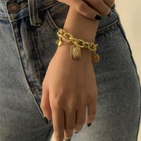 Link, Chain Vintage Portrait Sun Planet Charm Bracelet For Women Girl Gold Silver Color Geometric Adjustable Bangles Party Jewelry
