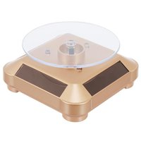 Solar Watch Display Stand 360° Rotating Turntable Jewelry Pouches, Bags