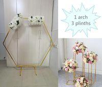 4 pcs lustroso ferro diy arco metal plinths flor coluna estandes balão para casamento aniversário fase de bebê festa de fundo decoração decorat