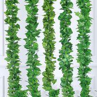 الزهور يترك 2 متر الاصطناعي الأخضر ورقة العنب الأخرى بوسطن اللبلاب فاينز زينت وهمية زهرة قصب بالجملة HH08 40 H1