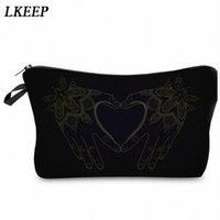 2019 Love Heart Pattern Women Clutch Cosmetic Bag Make Up Organizer Fashion Women Printing Multifunction Portable Makeup Bags b4pS#